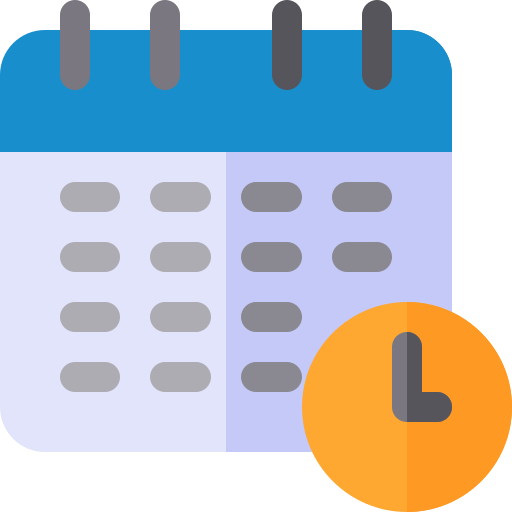 calendar icon on about page